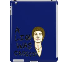 A Lion Crossed iPad Case/Skin