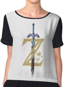 "The Legend of Zelda: Breath of the Wild - ""Z"" Logo Chiffon Top"