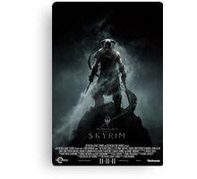 The Elder Scrolls V: Skyrim (Movie Poster Version) Canvas Print