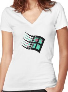 Sad Boys| Windows XP | High Quality! | Women's Fitted V-Neck T-Shirt