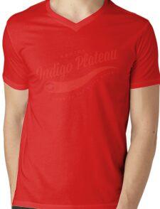 Indigo Plateau (Red) Mens V-Neck T-Shirt