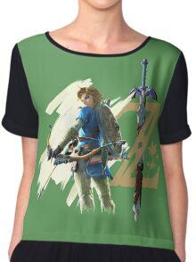 The Legend of Zelda: Breath of the Wild - Link & Logo Chiffon Top