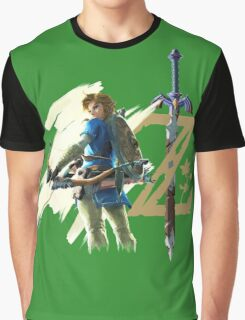 The Legend of Zelda: Breath of the Wild - Link & Logo Graphic T-Shirt