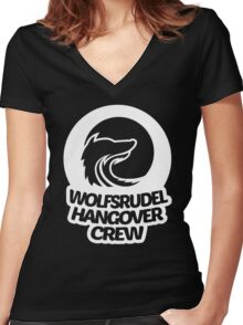 Hangover Crew Women's Fitted V-Neck T-Shirt