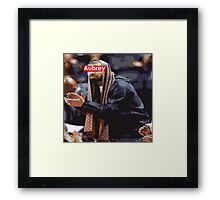 Aubrey x Red Framed Print