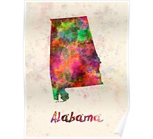 Alabama US state in watercolor Poster