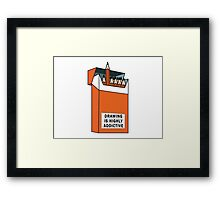 Drawing is highly addictive  Framed Print