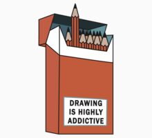 Drawing is highly addictive  Kids Tee