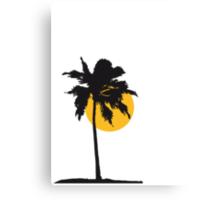 Palm tree on the beach sun sea Canvas Print