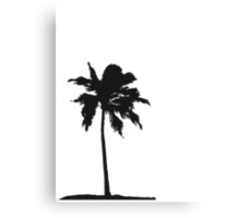 Palm tree on the beach sun sea Canvas Print