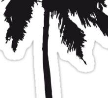 Palm tree on the beach sun sea Sticker