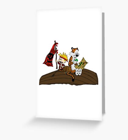 Calvin and Hobbes Adventure Greeting Card