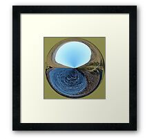 Yon distant shore Framed Print