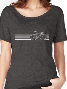 Bike Stripes Grey & White Women's Relaxed Fit T-Shirt