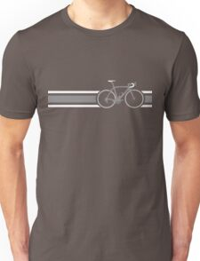 Bike Stripes Grey & White Unisex T-Shirt