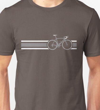 Bike Stripes Grey & White Unisex T-Shirt