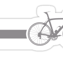 Bike Stripes Grey & White Sticker