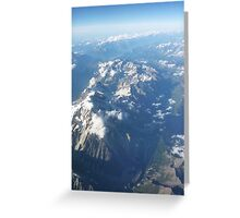 Alps below Greeting Card