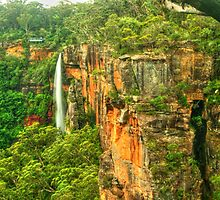 Fitzroy Falls .. the side view by Michael Matthews