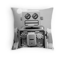 RoBot Passport Photo Throw Pillow