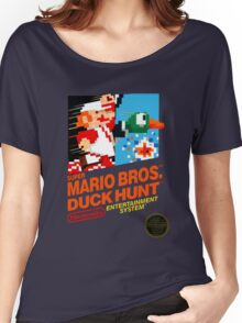 NES Super Mario Bros & Duck Hunt  Women's Relaxed Fit T-Shirt