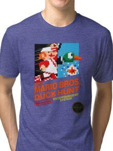 NES Super Mario Bros & Duck Hunt  Tri-blend T-Shirt