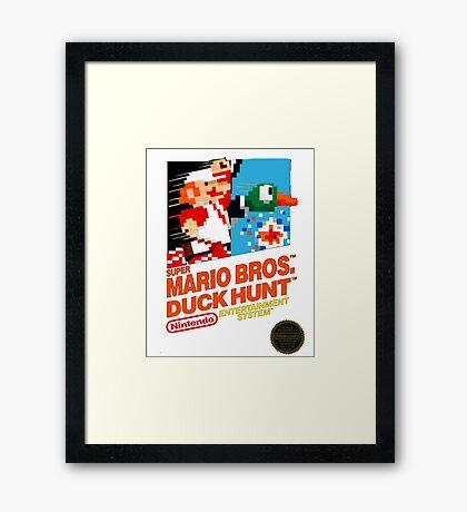 NES Super Mario Bros & Duck Hunt  Framed Print