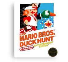 NES Super Mario Bros & Duck Hunt  Canvas Print