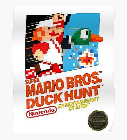 NES Super Mario Bros & Duck Hunt  Poster