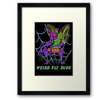 Weird Fly Dude Framed Print