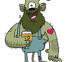 Saison Beer Monster by striffle