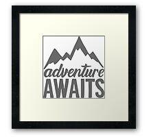 Adventure Awaits Framed Print