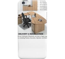 E-Space Desk With Pedestal iPhone Case/Skin