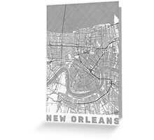 New Orleans Map Line Greeting Card