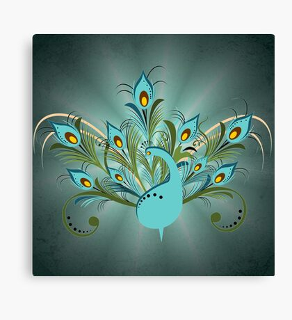 Just a Peacock  Canvas Print