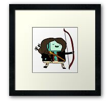 BMO Katniss  Framed Print