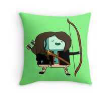 BMO Katniss  Throw Pillow