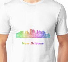 Rainbow New Orleans skyline Unisex T-Shirt