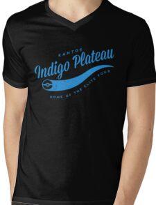 Indigo Plateau (blue) Mens V-Neck T-Shirt