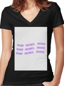 DEAN - KHIPHOP - RAW REBEL ROOT - PASTEL Women's Fitted V-Neck T-Shirt