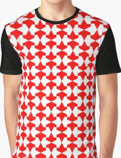 Ancient Red and White Mamluks Pattern Graphic T-Shirt