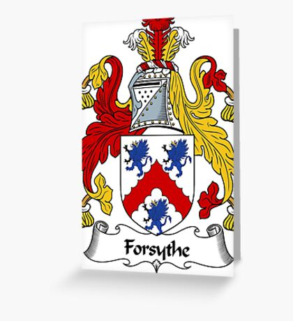 Forsythe Coat of Arms / Forsythe Family Crest Greeting Card