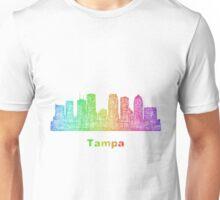 Rainbow Tampa skyline Unisex T-Shirt