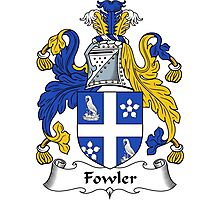 Fowler Coat of Arms / Fowler Family Crest Photographic Print