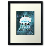 My Thoughts Are Stars Framed Print