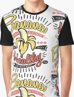 Banana Healthy Pop Art Graphic T-Shirt