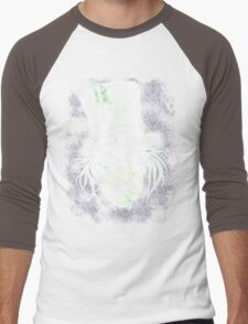 HATBOX GHOST WITH GRUNGY HAUNTED MANSION WALLPAPER Men's Baseball ¾ T-Shirt