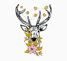 Deer with crystals and flowers Unisex T-Shirt