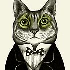 gentleman cat by smalldrawing