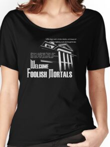 Haunted Mansion Ghost Host Speech Women's Relaxed Fit T-Shirt